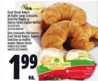 Front Street Bakery All Butter Large Croissants - Selection Bagels Or Oakrun Farms English Muffins