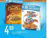 Select General Mills Family Size Cereals - 525-725 G
