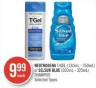 Neutrogena  T Gel (130ml - 250ml) or Selsun Blue (300ml - 325ml) Shampoo