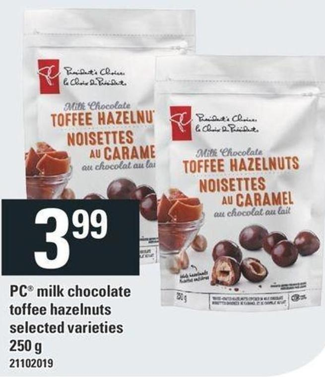 PC Milk Chocolate Toffee Hazelnuts - 250 g