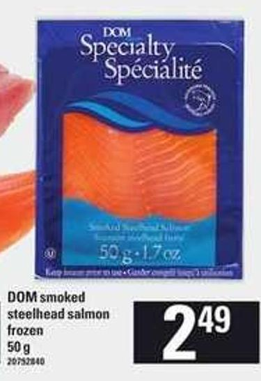 Dom Smoked Steelhead Salmon - 50 g