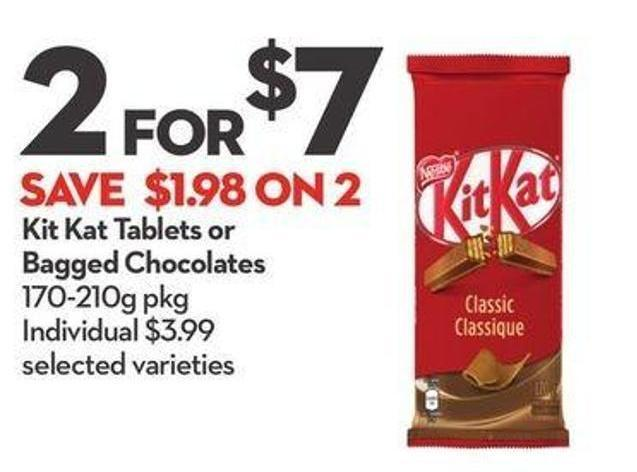 Nestlé Kit Kat Tablets or Bagged Chocolates