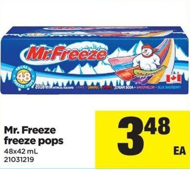 Mr. Freeze Freeze Pops - 48x42 Ml