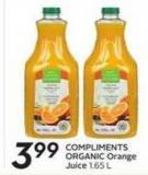Compliments Organic Orange Juice 1.65 L