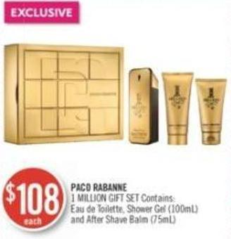 Paco Rabanne 1 Million Gift Set Contains Shower Gel (100ml) and After Shave Balm (75ml)