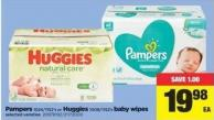 Pampers - 1024/1152's Or Huggies - 1008/1152's Baby Wipes