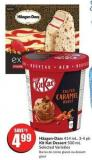 Häagen-dazs 414 mL - 3-4 Pk Kit Kat Dessert 500 mL Selected Varieties