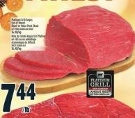 Finest Platinum Grill Angus Eye Of Round Roast Or Value Pack Steak