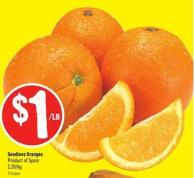 Seedless Oranges Product of Spain 2.20/kg