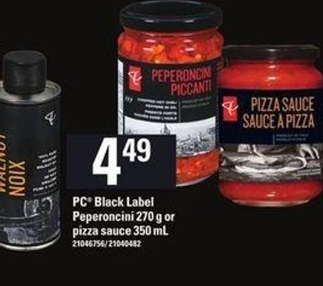 PC Black Label Peperoncini 270 G Or Pizza Sauce - 350 Ml