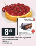 PC Cheesecake Or Cheesecake-style Dessert - 540/600 g
