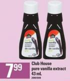 Club House Pure Vanilla Extract - 43 mL