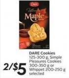Dare Cookies 125-300 g - Simple Pleasures Cookies300-350 g or Whippet 200-250 g Selected