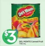 Del Monte Canned Fruit 796 mL