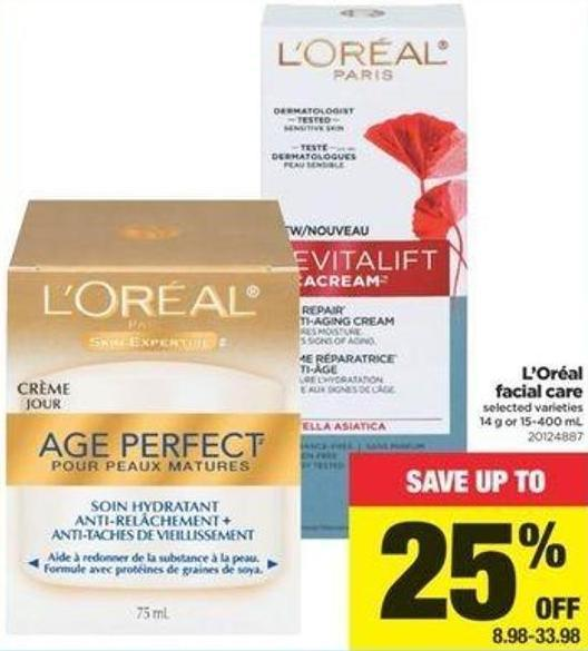 L'oréal Facial Care - 14 g or 15-400 mL