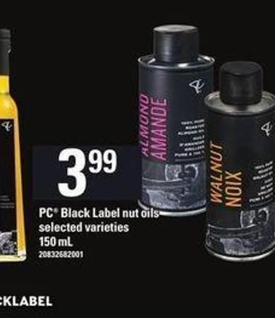PC Black Label Nut Oils - 150 mL