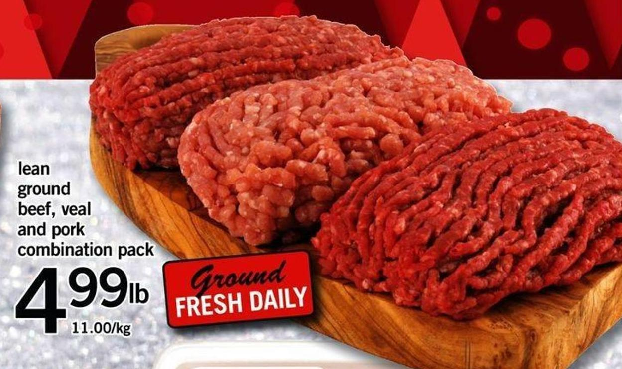 Lean Ground Beef - Veal And Pork Combination Pack