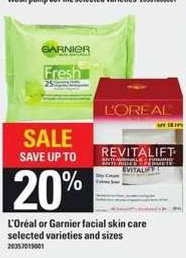 L'oréal Or Garnier Facial Skin Care