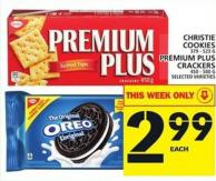 Christie Cookies Or Premium Plus Crackers