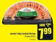 Anchor's Bay Cocktail Shrimp Frozen 567 g