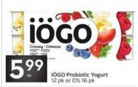 Iögo Probiotic Yogurt