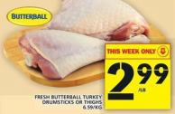 Fresh Butterball Turkey Drumsticks Or Thighs