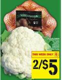 Cauliflower Or Sweet Vidalia Onions
