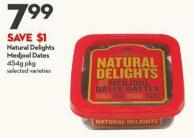 Natural Delights  Medjool Dates 454g Pkg