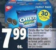 Christie Mini Fun Treat Cookies 30 Un. -