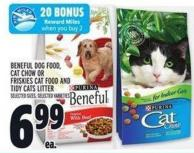 Beneful Dog Food - Cat Chow Or Friskies Cat Food And Tidy Cats Litter