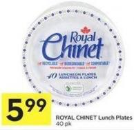 Royal Chinet Lunch Plates
