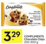 Compliments Chocolate Chips 250-300 g