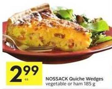 Nossack Quiche Wedges Vegetable or Ham 185 g