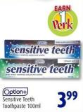 Option+ Sensitive Teeth Toothpaste 100ml