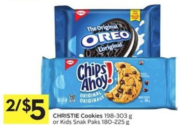 Christie Cookies 198-303 g or Kids Snak Paks 180-225 g