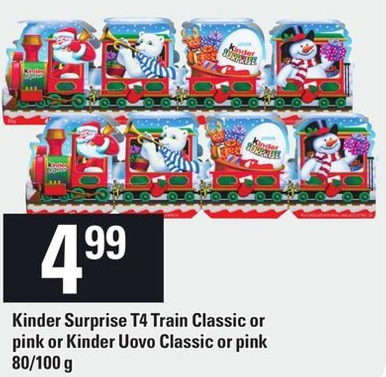 Kinder Surprise T4 Train Classic Or Pink Or Kinder Uovo Classic Or Pink - 80/100 g