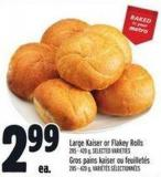 Large Kaiser Or Flakey Rolls 285 - 420 g