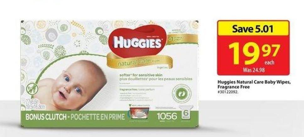 Huggies Natural Care Baby Wipes - Fragrance Free