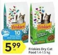 Friskies Dry Cat Food - 10 Air Miles Bonus Miles