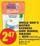 Uncle Ben's Bistro Express Side Dishes - Grains or Rice - 240/250 g