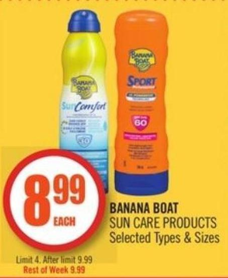 Banana Boat Sun Care Products