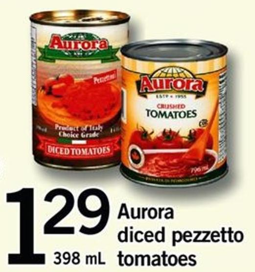 Aurora Diced Pezzetto Tomatoes - 398 Ml