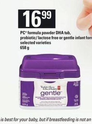 PC Formula Powder Dha Tub - Probiotic/ Lactose Free Or Gentle Infant Formula - 658 g