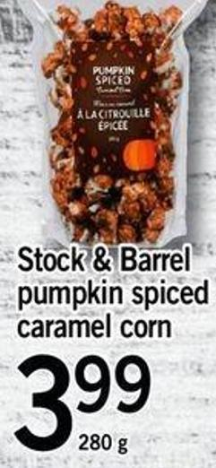 Stock & Barrel Pumpkin Spiced Caramel Corn