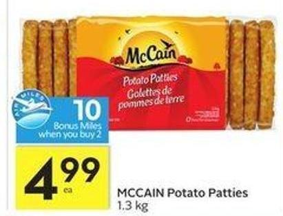 Mccain Potato Patties - 10 Air Miles Bonus Miles