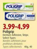 Poligrip Denture Adhesive - Strips Select Types