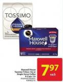 Maxwell House Tassimo T-discs 16s or Single-serve Coffee K-cups 12s
