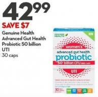 Genuine Health Advanced Gut Health Probiotic 50 Billion Uti  30 Caps