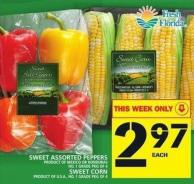 Sweet Assorted Peppers Or Sweet Corn