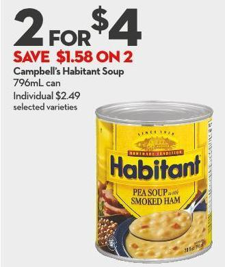 Campbell's Habitant Soup 796ml Can